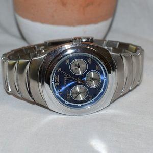 Timex TMX Stainless Steel Blue Chronometer Watch